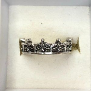 3/$12 - Silver coloured Crown Design Ring